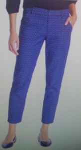 cropped straight pants with a mid rise