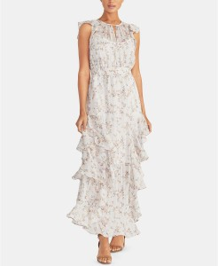 RR white floral ruffled